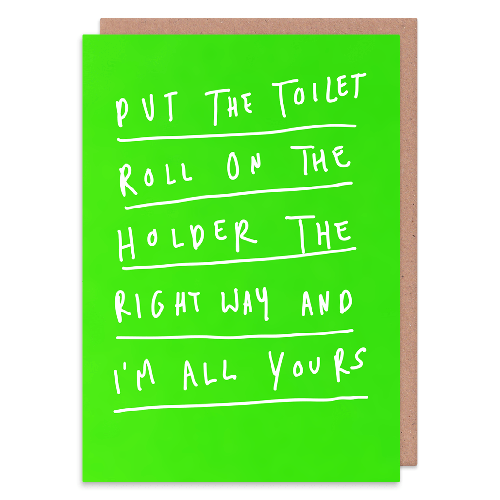 Put The Toilet Roll On The Right Way Greeting Card by George The Cardmaker - Whale and Bird