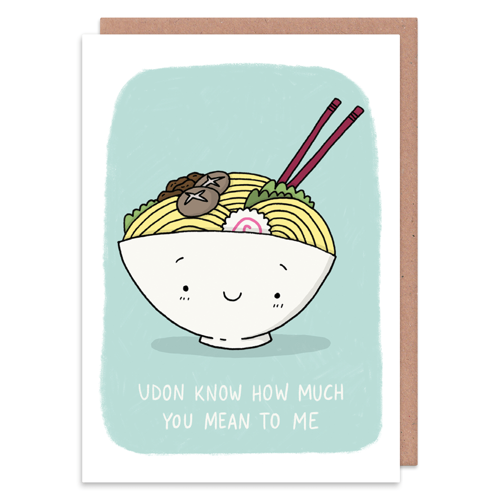 Udon Know How Much You Mean To Me Greeting Card by Camille Medina - Whale and Bird