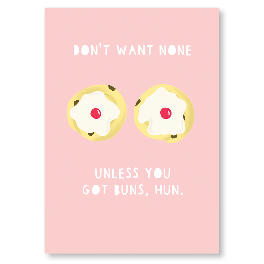 Don't Want None Unless You Got Buns Postcard by Zoe Spry - Whale and Bird