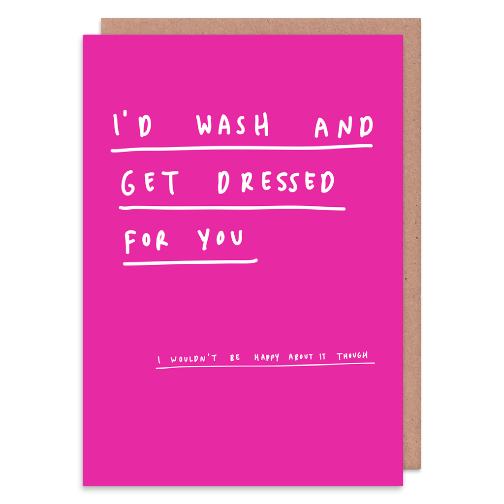 I'd Wash And Get Dressed For You Greeting Card by George The Cardmaker - Whale and Bird