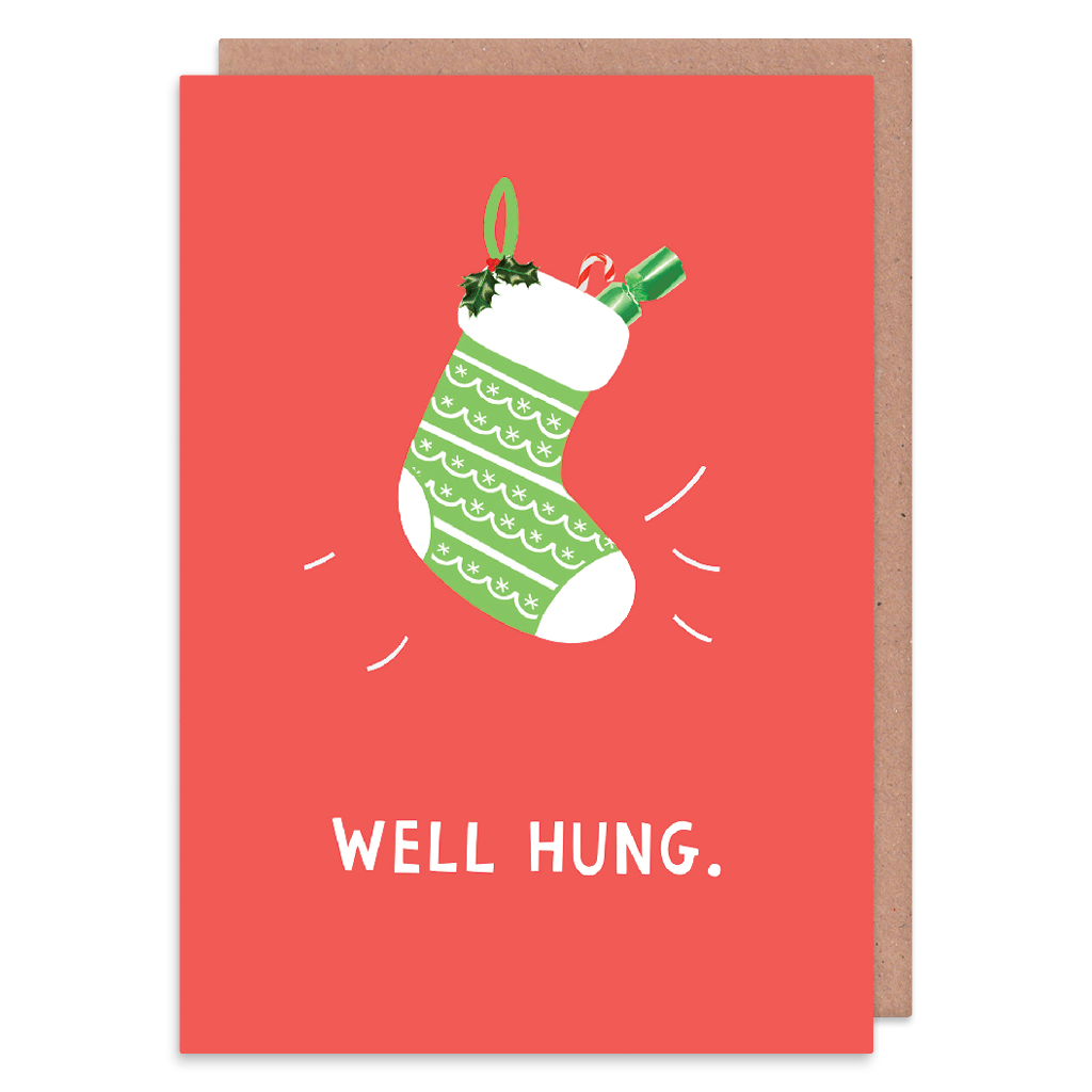 Well Hung Christmas Card by Zoe Spry - Whale and Bird