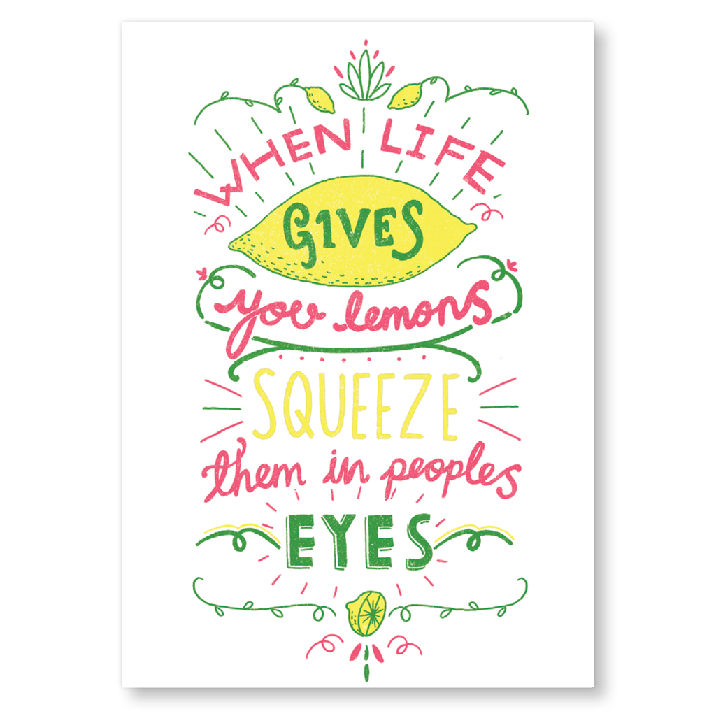 When Life Gives You Lemons Postcard by Charly Clements - Whale and Bird