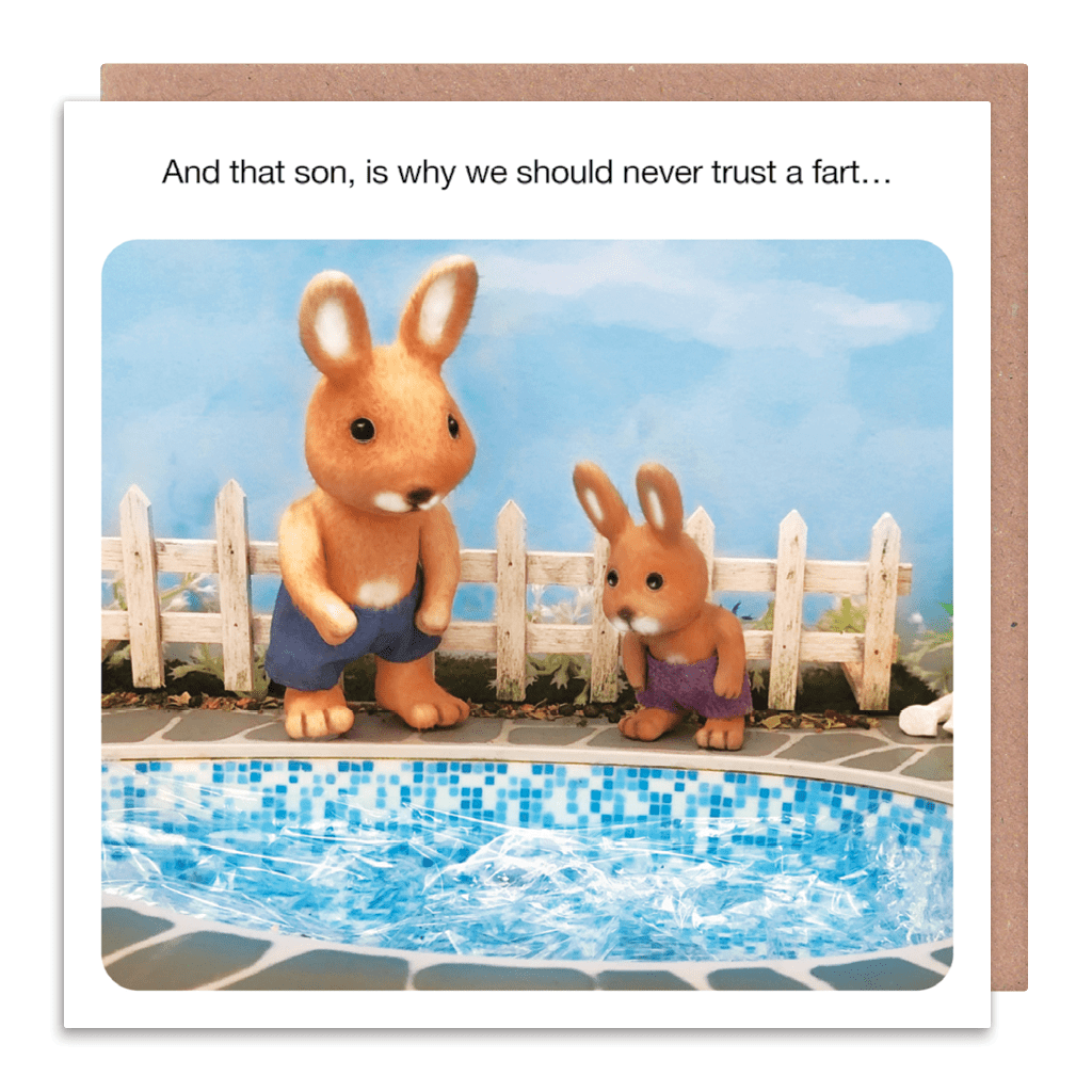 Why We Should Never Trust A Fart Greeting Card by forest fr1ends - Whale and Bird