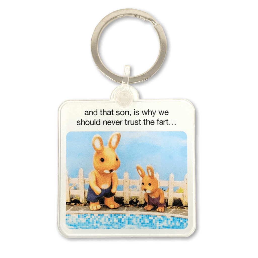 Why We Should Never Trust The Fart Keyring by forest fr1ends - Whale and Bird