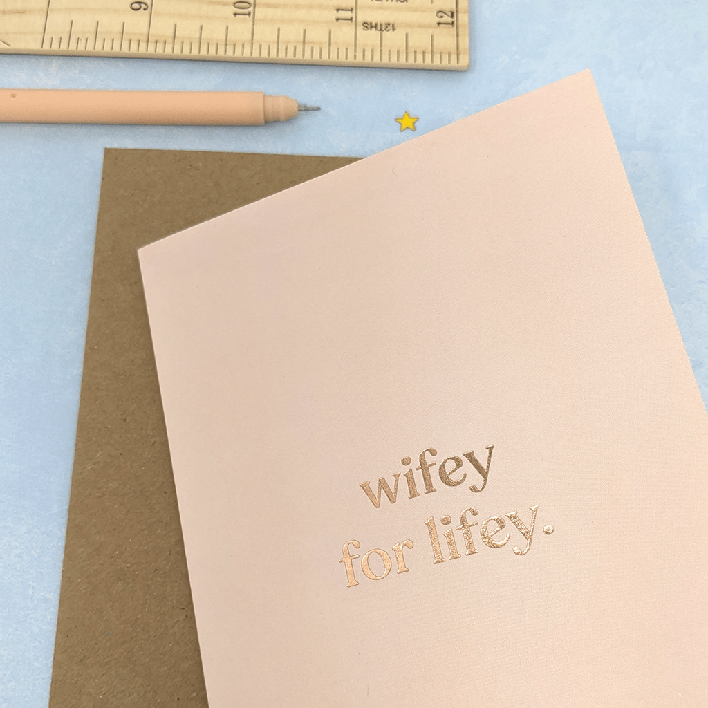 Wifey For Lifey Greeting Card by Amy Wicks - Whale and Bird