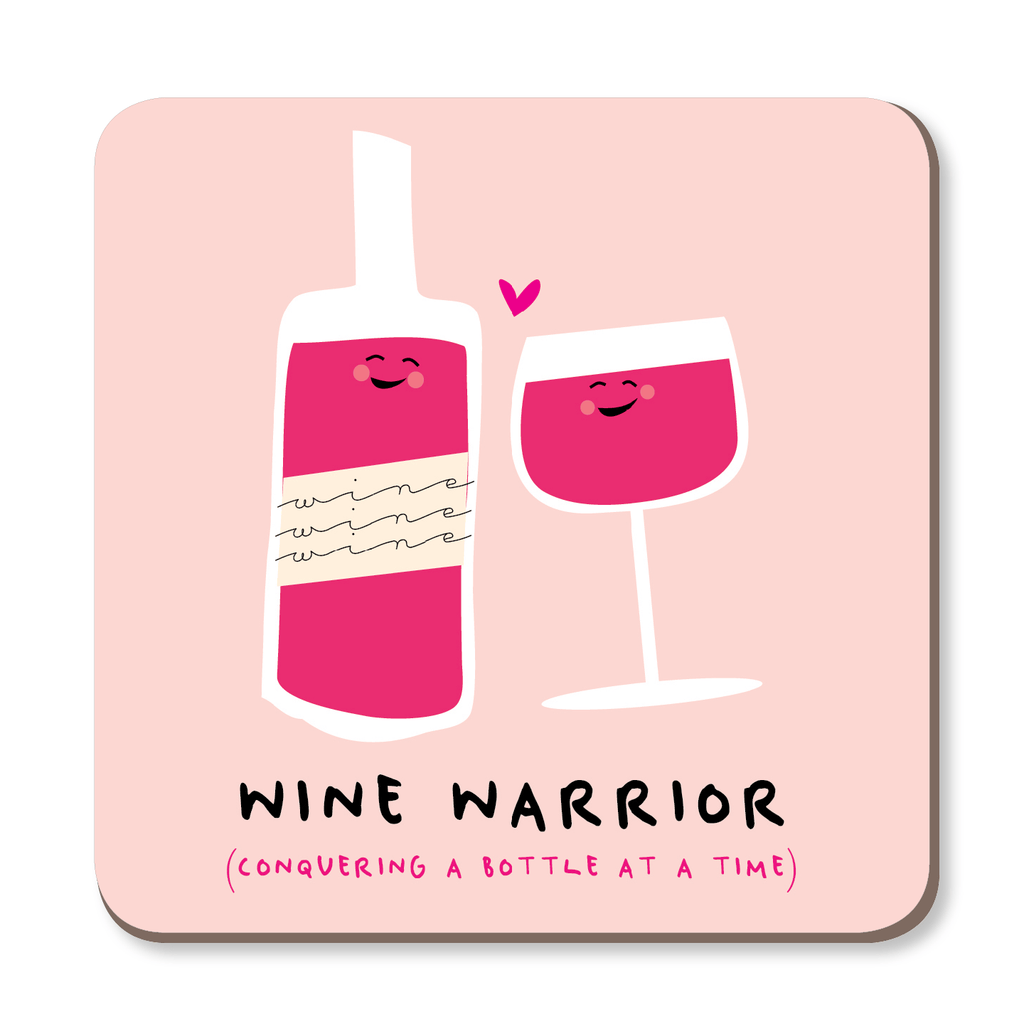 Wine Warrior Boozy Coaster by Ooh I Like That - Whale and Bird