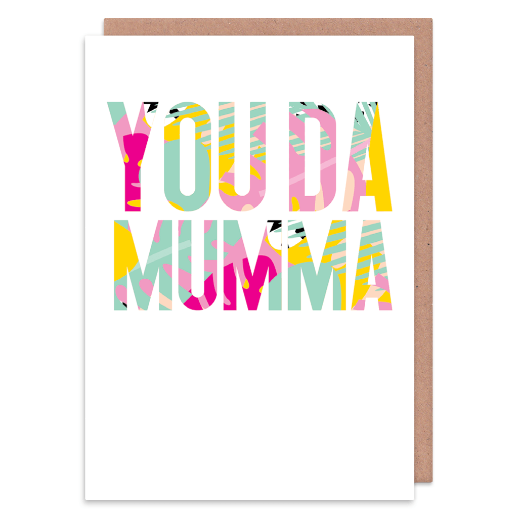 You Da Mumma Tropical Greeting Card by Ooh I Like That - Whale and Bird