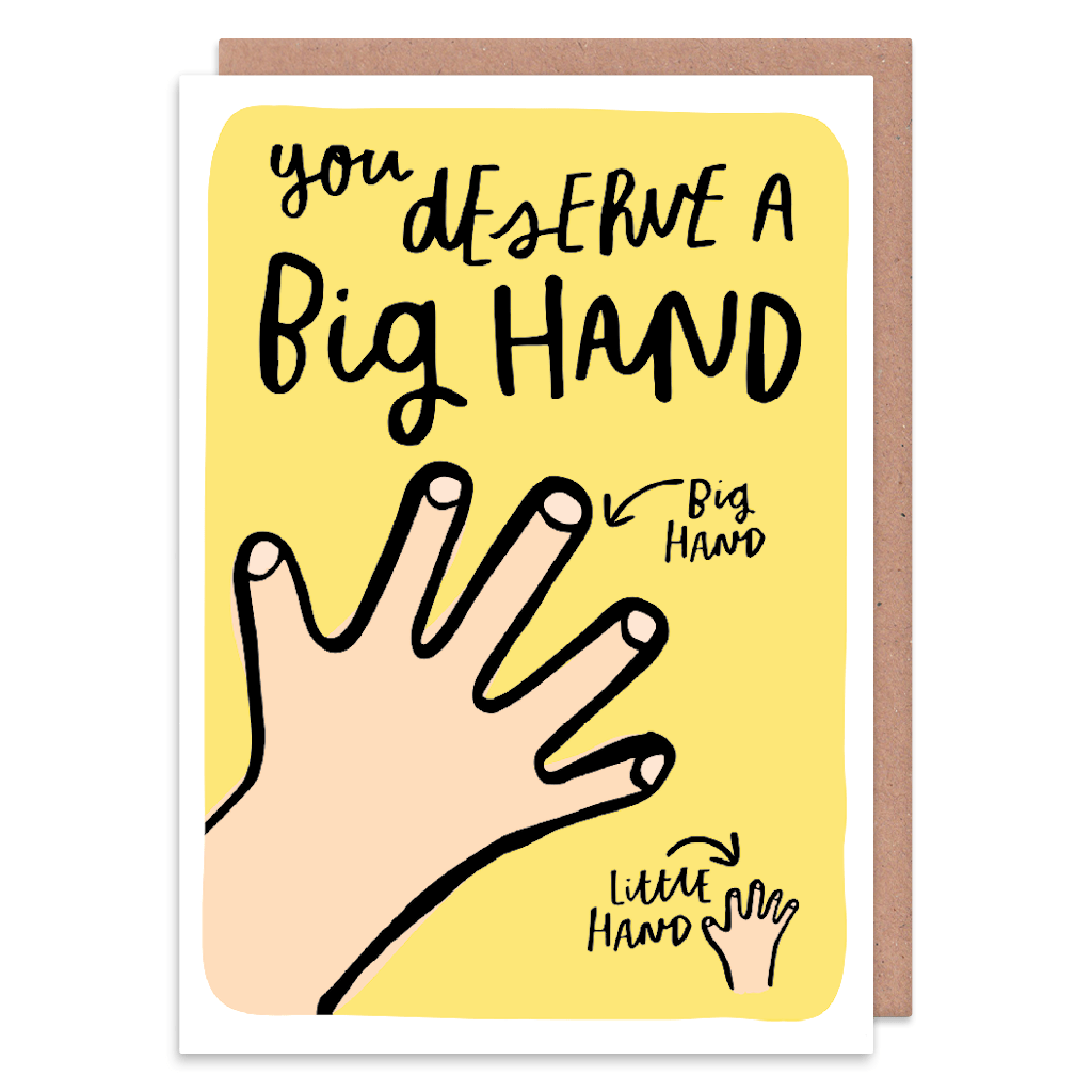 You Deserve A Big Hand Thank You Card by Lisa Greener - Whale and Bird