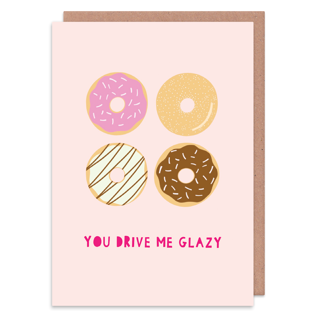 You Drive Me Glazy Greeting Card by Zoe Spry - Whale and Bird