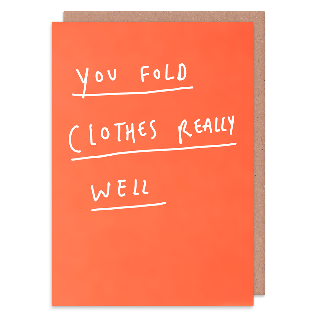You Fold Clothes Really Well Greeting Card by George The Cardmaker - Whale and Bird