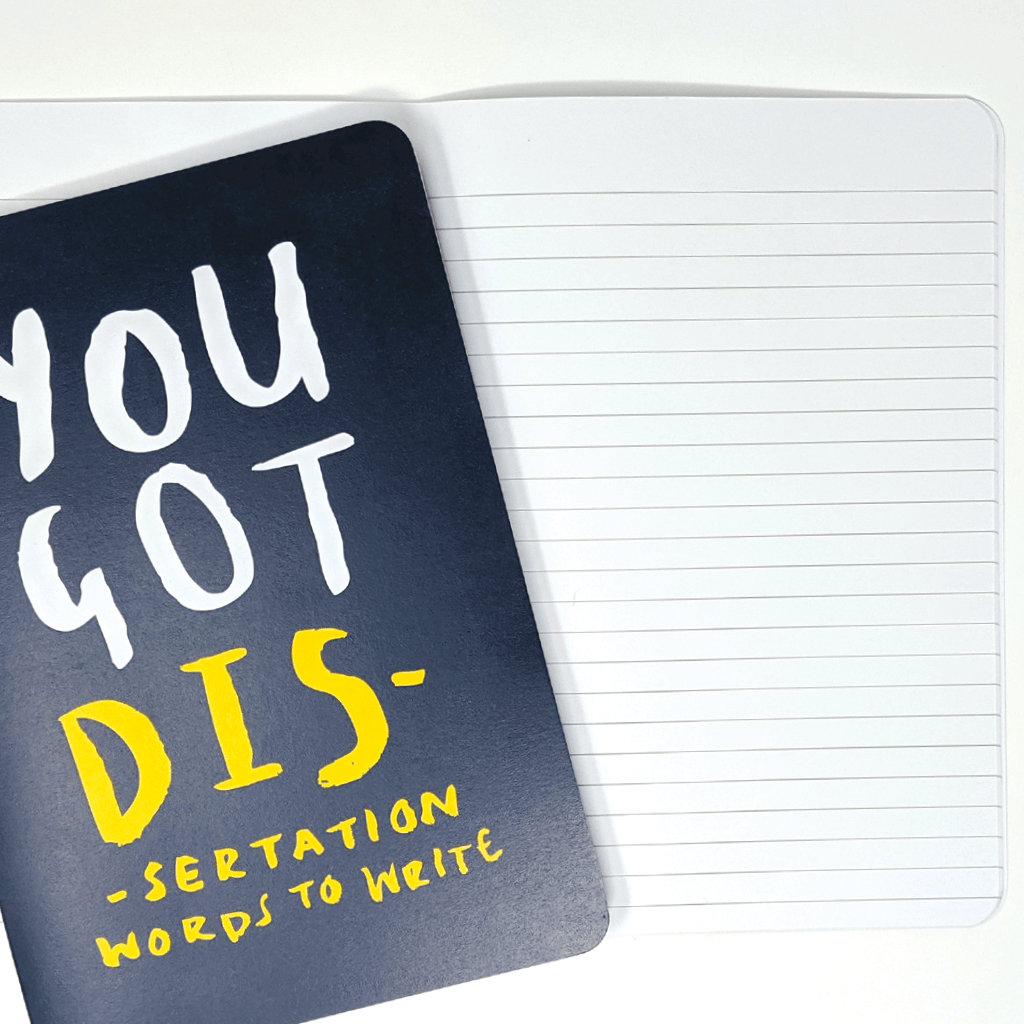 You Got Dissertation Words To Write A5 Notebook by Lauren Goodland - Whale and Bird