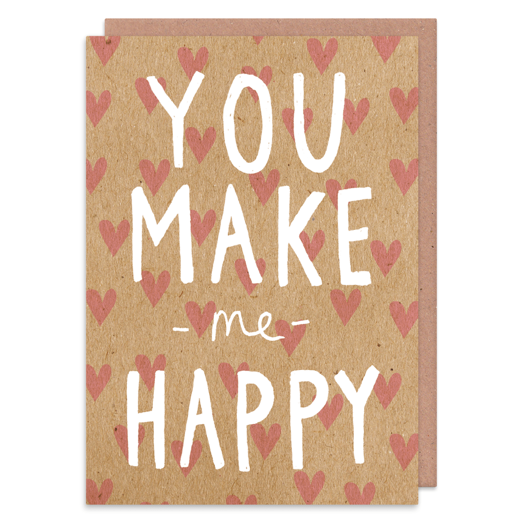 You Make Me Happy Greeting Card by Charly Clements - Whale and Bird