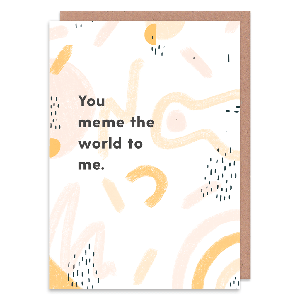 You Meme The World To Me Greeting Card by Abstract - Whale and Bird