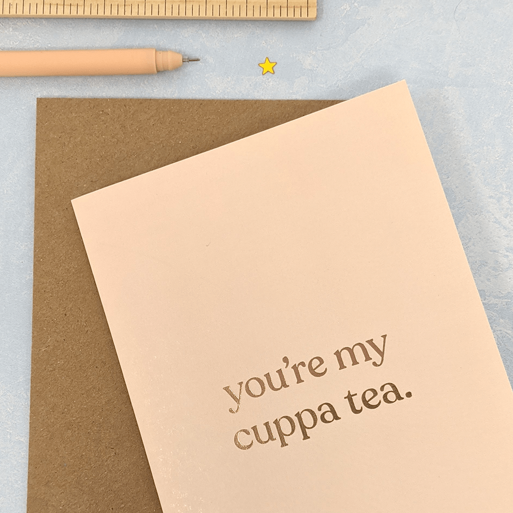 You're My Cuppa Tea Greeting Card by Amy Wicks - Whale and Bird