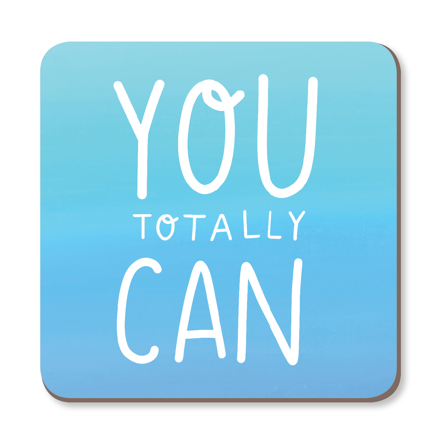 You Totally Can Motivational Coaster by Nutmeg and Arlo - Whale and Bird