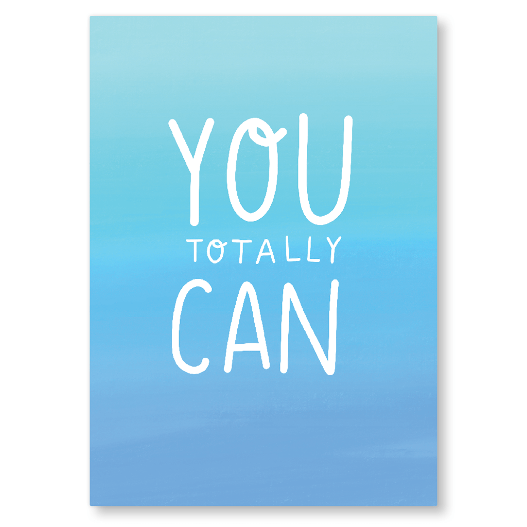 You Totally Can Motivational Postcard by Nutmeg And Arlo - Whale and Bird
