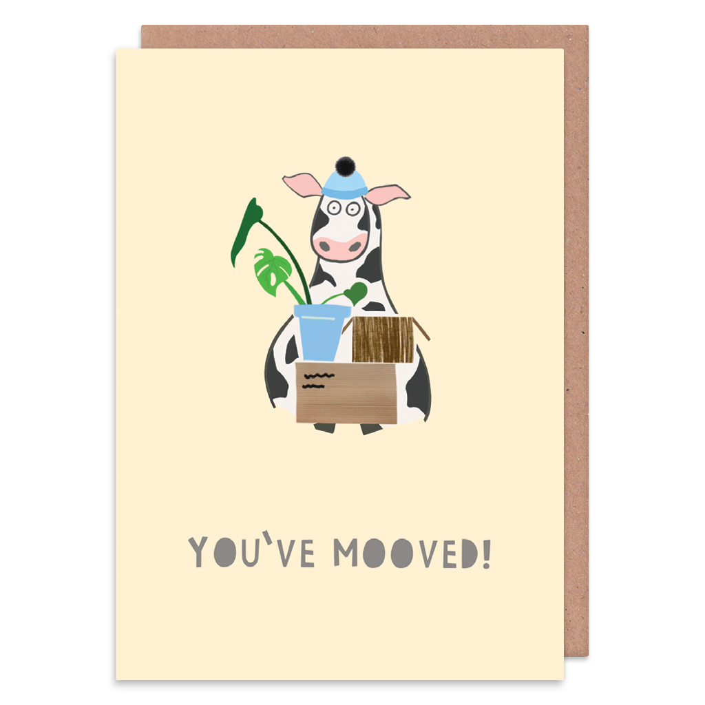 You've Mooved New Home Card by Zoe Spry - Whale and Bird