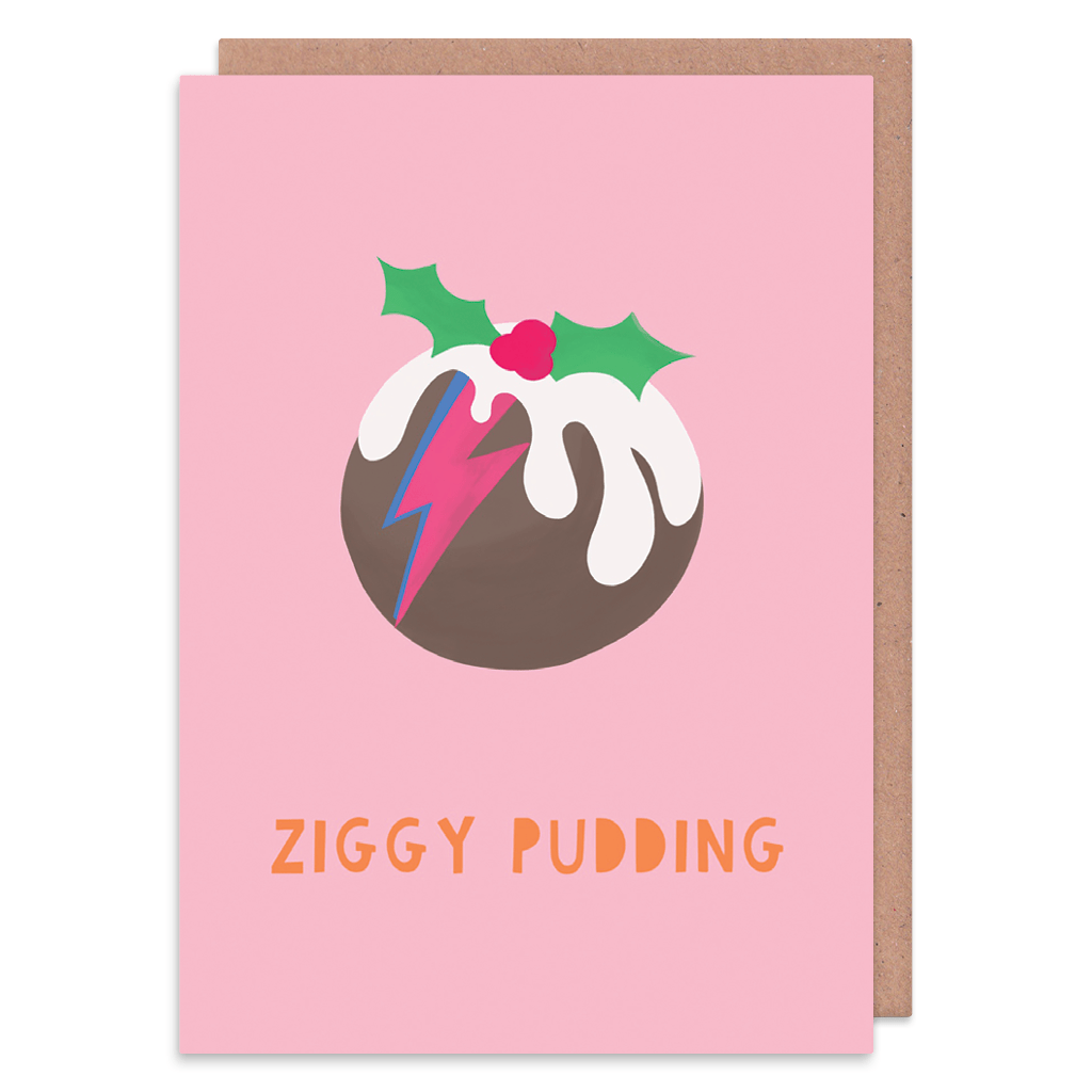 Ziggy Pudding Christmas Card by Zoe Spry - Whale and Bird