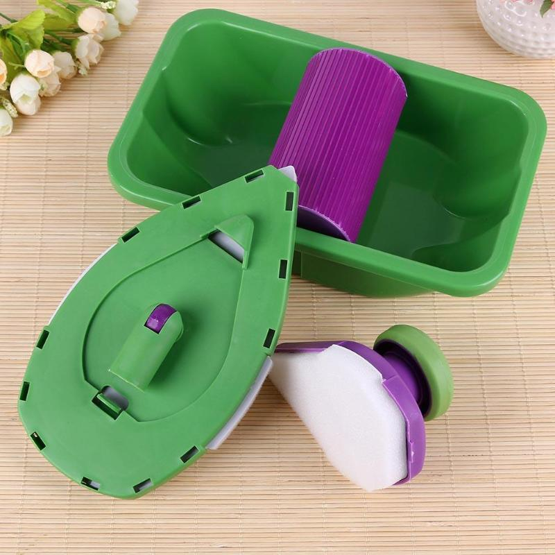 9pcs Decorative Paint Pad Pro Roller and Tray Set