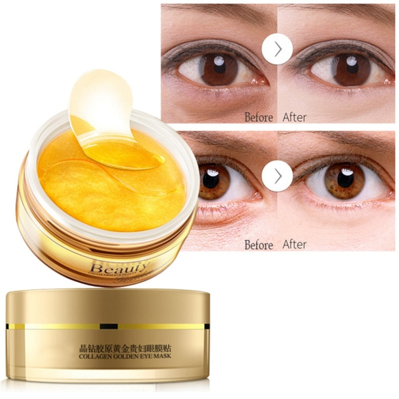 60 Pieces Gold Eye Mask - Anti Aging Eye Patches