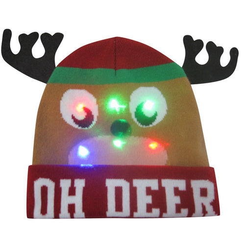 LED Flashing Light Christmas Hat