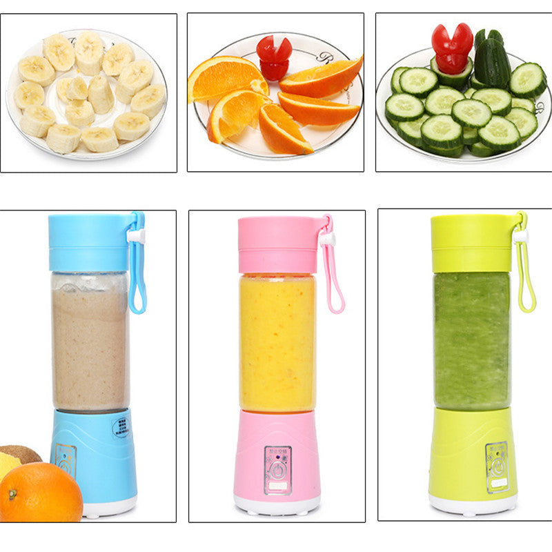 Portable USB Electric Fruit Juicer Bottle Handheld Milkshake Maker