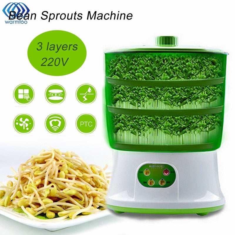 Automatic Bean Sprout Machine Three Layers US Plug Multi functional