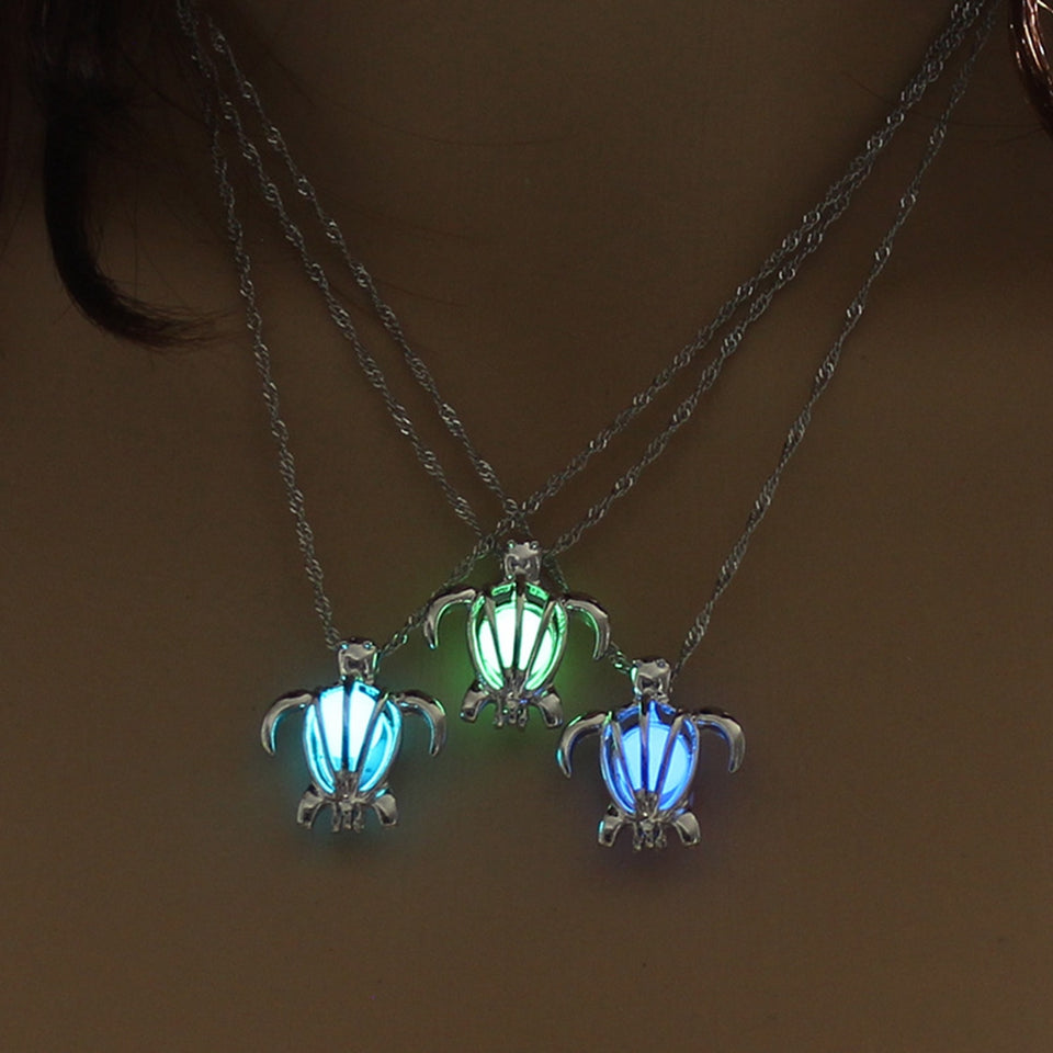 Glow Turtle Necklace