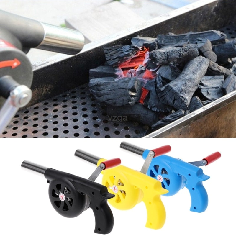 25*8cm Outdoor Cooking BBQ Fan Air Blower For Barbecue Fire Bellows Hand Crank Tool Picnic Camping BBQ Barbecue Tool