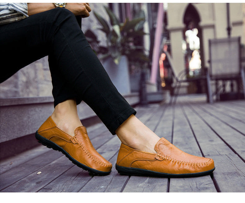Leather Casual Comfortable Walking Shoes
