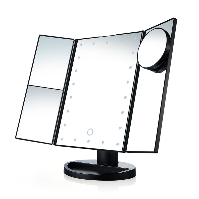 TOUCH SCREEN MAKEUP MIRROR 22 LED LIGHT MAGNIFYING FOLDING STYLE