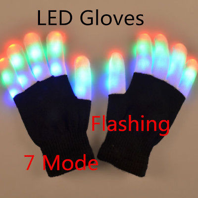 7 Mode LED Finger Gloves