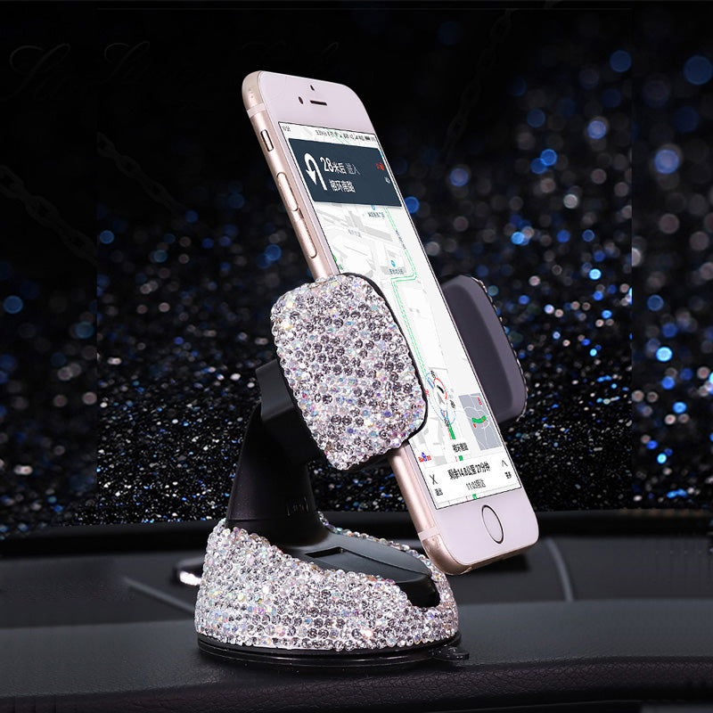 Crystal Rhinestone Car Phone Holder