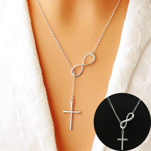 Infinity Cross Necklace (Stainless Steel)