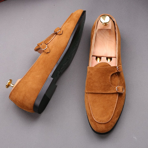 Fashion Men Monk Buckle Straps Loafers