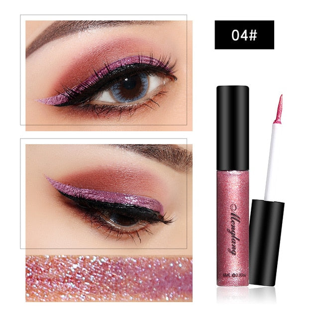 New Waterproof Diamond Glitter Liquid Eye Shadow