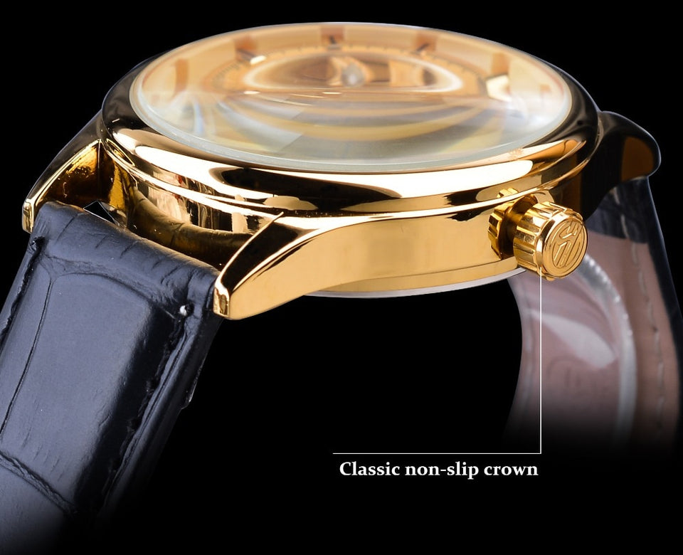 Gear Movement Royal Classic Fashion Mechanical Wrist Watches