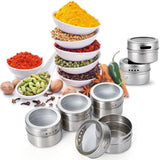 Magnetic Spice Rack - Stainless Steel and Magnetic