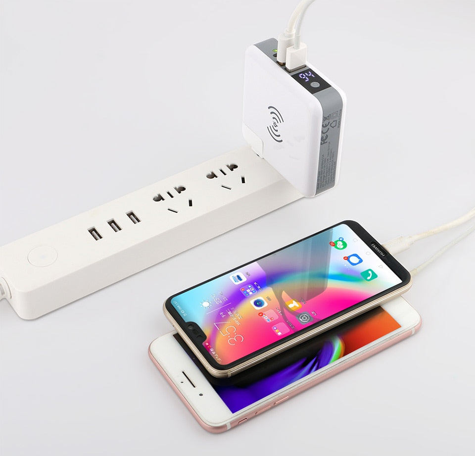 3 in 1 QI Wireless Travel Power Bank