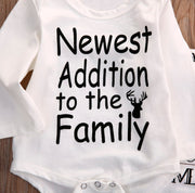 "Toddllier™ Newborn ""Newest Edition To The Family"" Full Outfit"