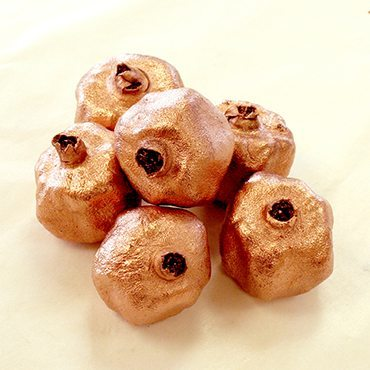Copper Pomegranates (set of 6)