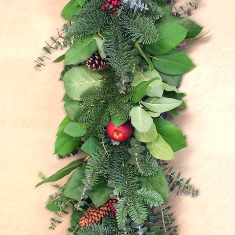 Apple Berry Garland 6'