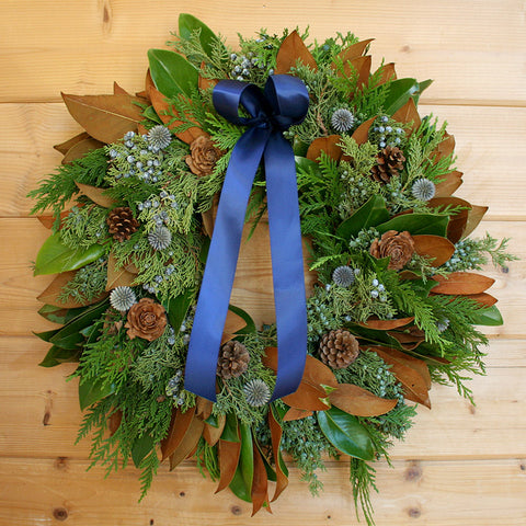 Blue Winter Wreath
