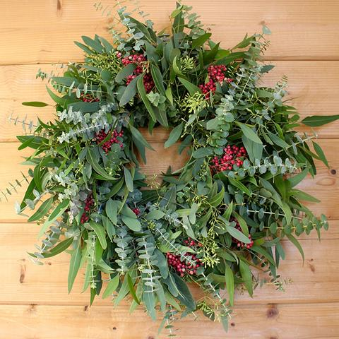 Mixed Eucalyptus and Pepperberry Wreath
