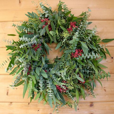 Mixed Eucalyptus and Pepperberry Anniversary Edition Wreath