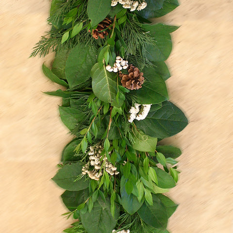 Fresh Winter Garland 6'