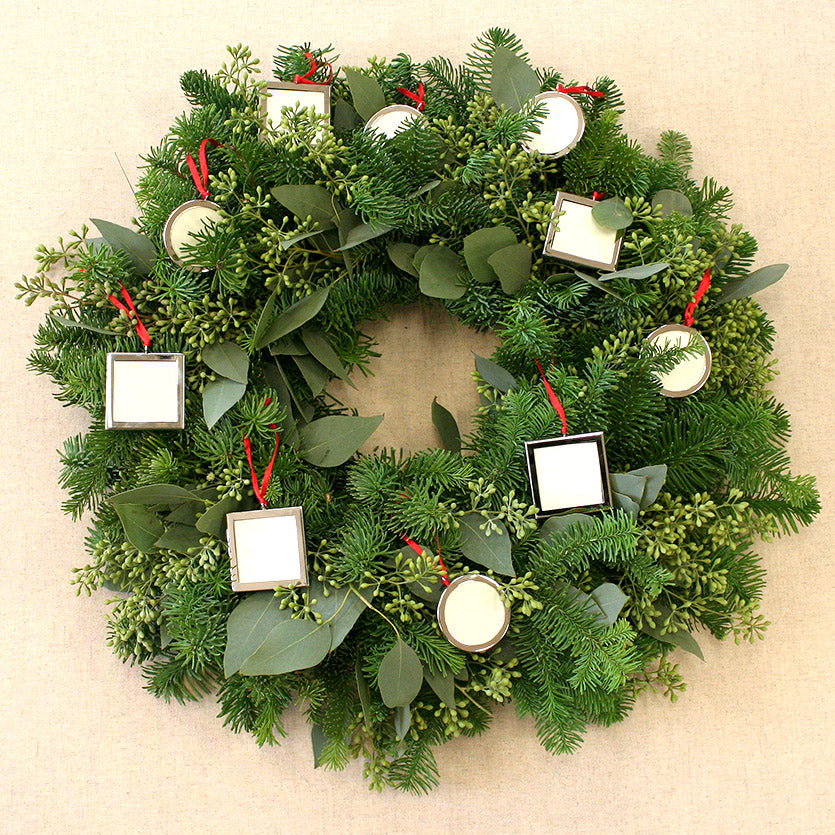 Picture Frame Fragrant Fir Holiday Wreath By Creekside Farms