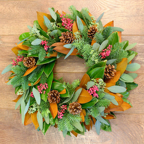 Magnolia Greens Wreath