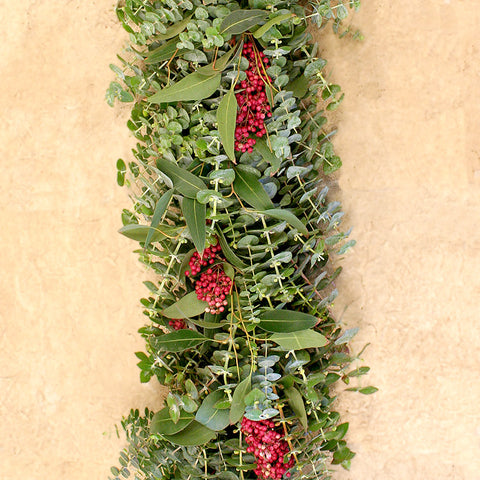 Mixed Eucalyptus and Pepperberry Garland 6'