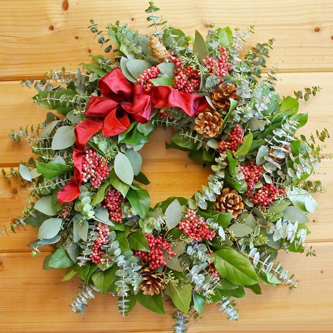 Berried Pine Cone Wreath